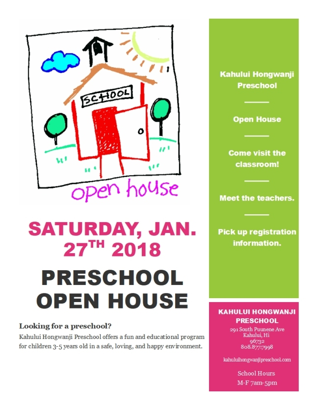 Open House flyer pic