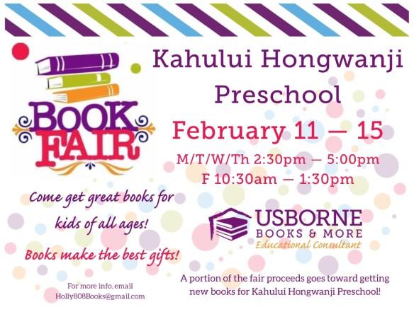Usborne February 2020 Calendar Book Fair! Feb 11 15 | Kahului Hongwanji Preschool